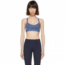 Adidas Originals Blue All Me 3-Stripe Sports Bra 192751F07300305GB