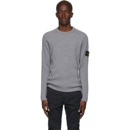 Stone Island Grey Wool Sweater 192828M20100403GB