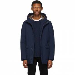 Herno Navy Down Hooded Coat 192829M17800106GB