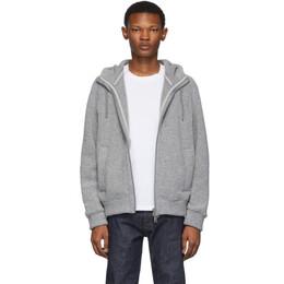 Herno Grey Fluffy Powder Hoodie Jacket 192829M18000301GB