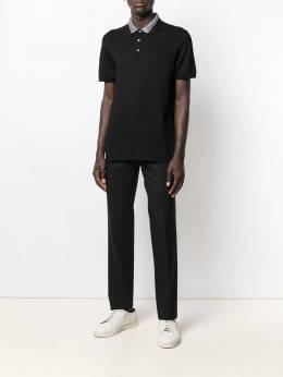 Salvatore Ferragamo - рубашка-поло с контрастным воротником 96995685696000000000