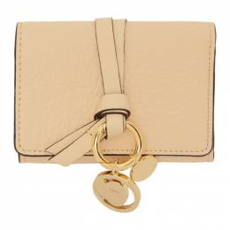 Chloe Beige Small Alphabet Compact Wallet 192338F04001701GB