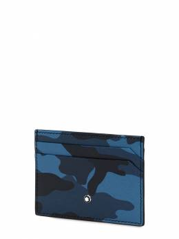Camouflage Print Leather Card Holder Montblanc 69IVNU013-Q0FNTyBCTFVF0