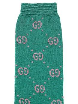 Трикотажные Носки Из Хлопка И Люрекса Gucci 69IFHA030-MzY3Mg2