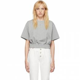 Opening Ceremony Grey Cropped Elastic T-Shirt 192261F11000502GB
