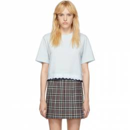 Opening Ceremony Blue Scallop OC Elastic Logo Cropped T-Shirt 192261F11001003GB