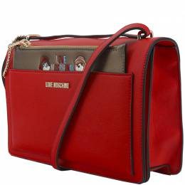 Love Moschino Red Faux Leather Flap Crossbody Bag 199473