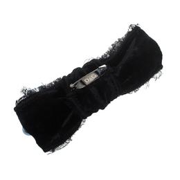 Dolce&Gabbana Grey Faux Pearl Embellished Black Bow Brooch 151454