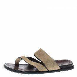 Tod's Beige Suede Cross Strap Sandals Size 40 Tod's