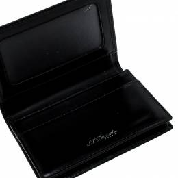 S.T. Dupont Black Glazed Leather Card Case