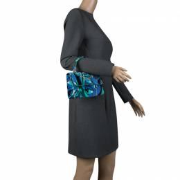 Emilio Pucci Multicolor Printed Velvet Top Handle Bag 136710