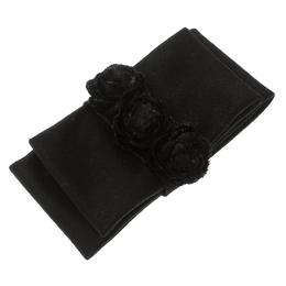 Chanel Black Flower Bow Brooch 131810