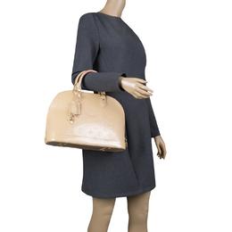 Louis Vuitton Beige Monogram Vernis Alma PM Bag 126276