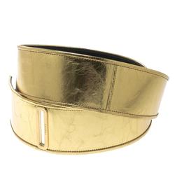 Chanel Gold Distressed Leather Waist Belt 90cm 125195