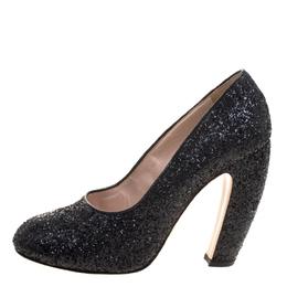 Miu Miu Black Glitter Pumps Size 40 113553