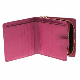 Loewe Pink Leather Compact Wallet