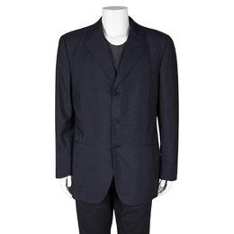 Loro Piana Navy Blue Wool Renoma Blazer 3XL 102963