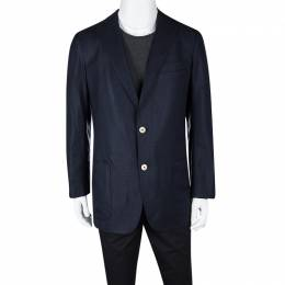 Ermenegildo Zegna Navy Blue Travel Blazer XL 111348