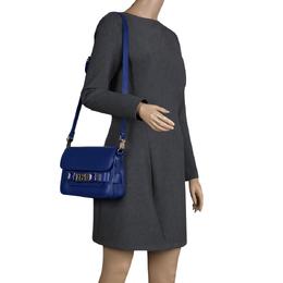Proenza Schouler Blue Leather Mini Classic PS11 Shoulder Bag 110298