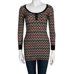 M Missoni Multicolor Patterned Sweater Tunic XS