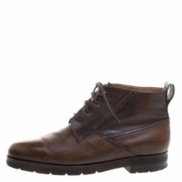Berluti Brown Leather High Top Boots Size 41.5 111208