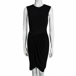 Alexander Wang Black Cutout Detail Sleeveless Draped Dress M