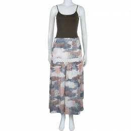 See By Chloe Multicolor Printed Partially Lined Maxi Skirt M 57408
