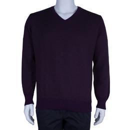 Ermenegildo Zegna Men's Purple Sweater L 45431