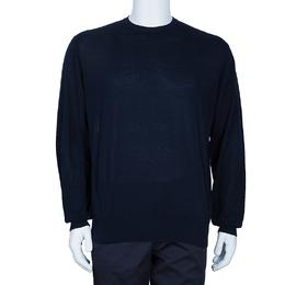 Loro Piana Men's Navy Blue Crewneck Sweater L 51308
