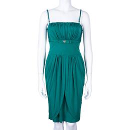Roberto Cavalli Class Sage Green Silk Dress M 43118