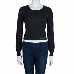 Chanel Grey Cashmere Sweater M 54455