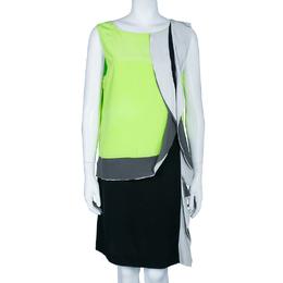 Diane Von Furstenberg Multicolor Shizuka Silk Sleeveless Dress L 45044