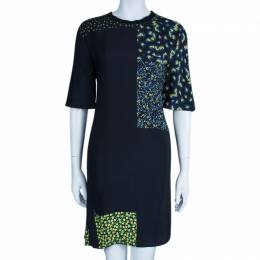 3.1 Phillip Lim Black Floral Print Silk Dress S