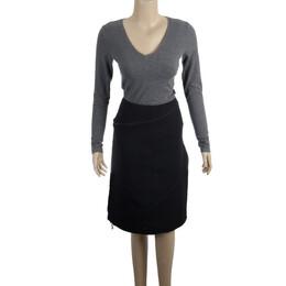 Alexander McQueen Diagonal Zipper Skirt S 15278