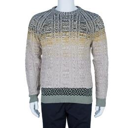 Missoni Men's Cable Knit Degrade Sweater M 4043