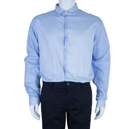 Just Cavalli Light Blue Cotton Men's Shirt XXXL 3960
