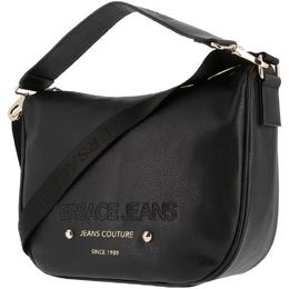 Versace Jeans Black Faux Pebbled Leather Messenger Bag 161924