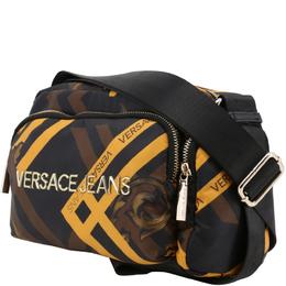 Versace Jeans Multicolor Print Fabric Messenger Bag 161993