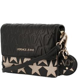 Versace Jeans Black Signature Faux Leather Star Clutch Bag 161983