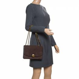 Marc Jacobs Brown Suede Trouble Shoulder Bag 168073