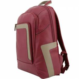 Piquadro Red Leather Backpack 167794