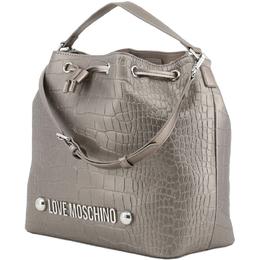 Love Moschino Grey Croc Embossed Bucket Crossbody Bag 157323