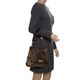 Lanvin Gold Leather Happy Shoulder Bag 171326