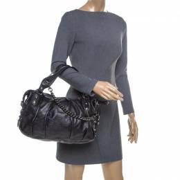 Gucci Black Guccissima Leather Medium Icon Bit Boston Bag