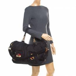 Sonia Rykiel Black Nylon Top Handle Bag