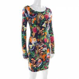Matthew Williamson Multicolor Tropical Printed Jersey Bodycon Dress S 177139