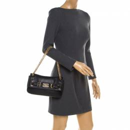 MICHAEL Michael Kors Black Leather Chain Shoulder Bag