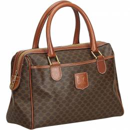 Celine Brown PVC Macadam Everyday Bag