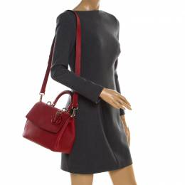 Dior Red Leather Small Be Dior Shoulder Bag 186646