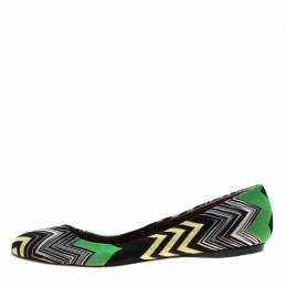 Missoni Multicolor Knit Ballet Flats Size 41 186847
